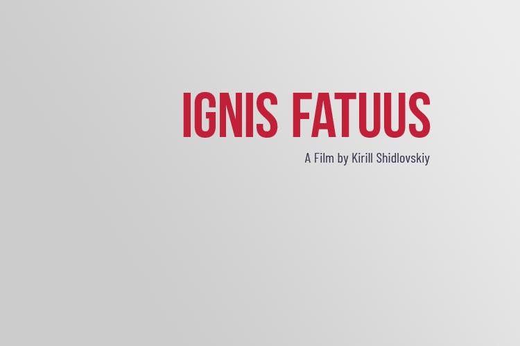 filmový plakát Ignis Fatuus